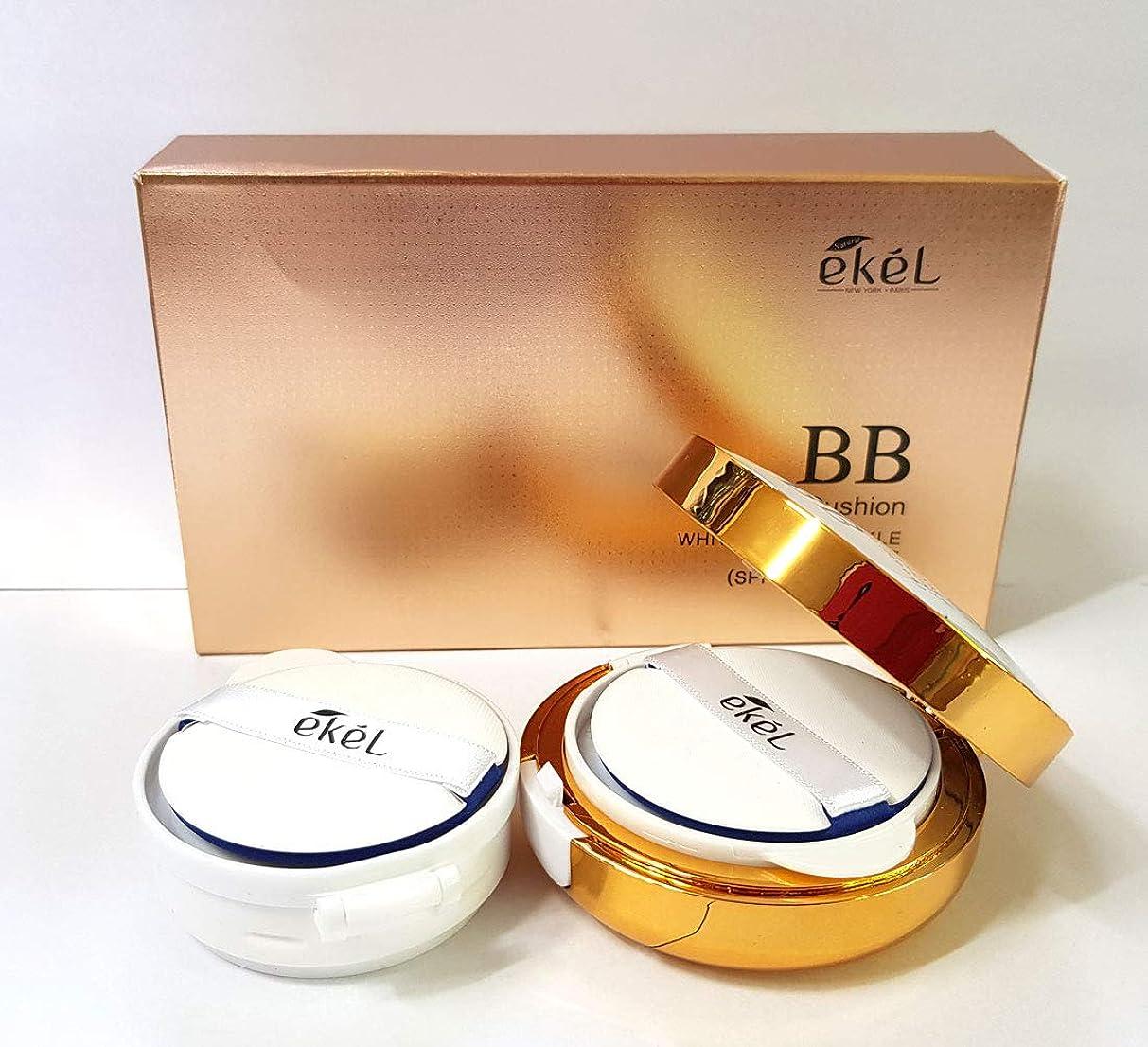 拮抗する不快アデレード[Ekel] ロタスウォーターエッセンスBBクッション15g + 15g / Llotus water essence BB cushion 15g+15g / SPF50+PA+++ / ホワイトニング&リンクル改善/韓国化粧品/Whitening & Wringkle Improvement/Korean Cosmetics (No. 23) [並行輸入品]