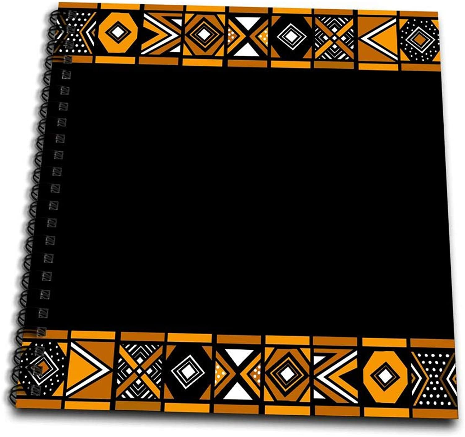 3dpink db_76556_2 Brown & Black African Pattern Art of Africa in spired by Zulu Beadwork Geometric Designs Memory Book, 12 by 12