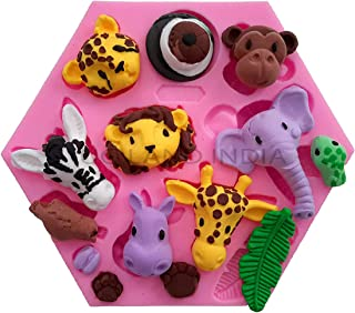 UG LAND INDIA Forest Animals Fondant Cake Decorating Molds Zoo Animals Silicone Mold for Chocolate Candy Gum Paste Clay Su...