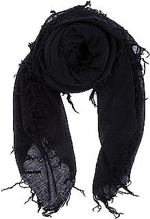 "Chan Luu Women's Combo Cashmere Silk Scarf 62""x 58"" in Black"