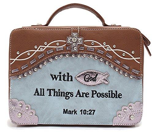 Blancho Bedding Womens [Posible] PU Cuero Biblia Funda Cubierta Biblia