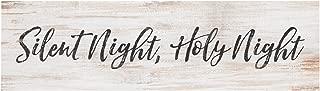 P. Graham Dunn Silent Night Holy Night Christmas Whitewash 6 x 1.5 Mini Pine Wood Tabletop Sign Plaque
