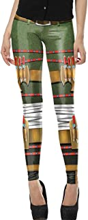 Womens 3D Digital Cartoon Print Stretch Leggings Footless Tights