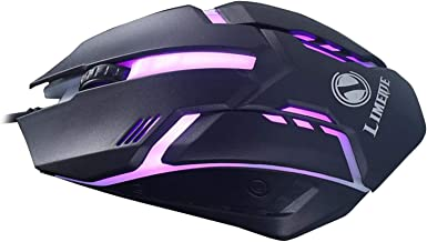 Homyl Gaming com fio 1600 DPI Luz Respiratória Computador Mouse Gamer Desktop Laptop PC Mouse 3 botões para Windows 7/8/1...