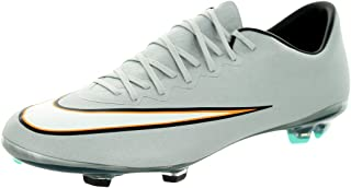 Nike Youth Mercurial Vapor X CR Firm Ground (Metallic Silver/Hyper Turq/Black)