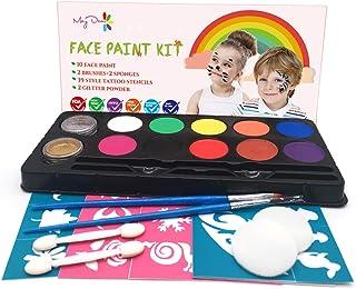 Maydear Kit de pintura facial para niños con paleta a base