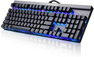 RGB Mechanical Gaming Keyboard, Wired Gaming Keyboard with Cherry MX Blue Switches, 14 Colors LED Backlit and 104 Key Side Engraved for Computer Gamer Office
