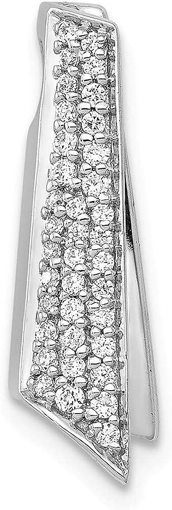 14k White Gold 1 Max 55% OFF 6ct. Diamond Necklace Charm Pendant Spasm price Chain Slide
