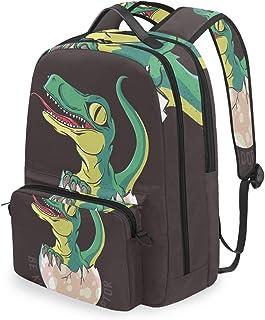 Mochila con bolsa cruzada desmontable, diseño de dinosaurio, para viajes, senderismo, acampada