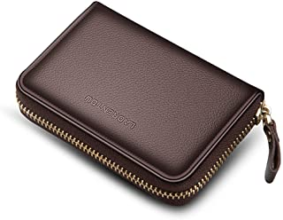 LAORENTOU Men Wallet Genuine Leather Card Holder for Male Brand Business Driver License Credit Card Case Holder