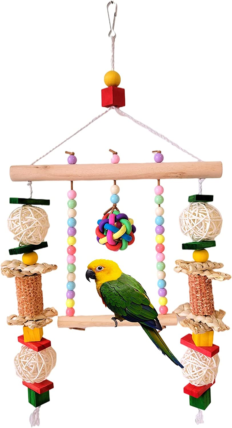 RF-X Courier shipping free shipping Parrot Toys Bird Small Natural Sales results No. 1 Hammock Swin pet