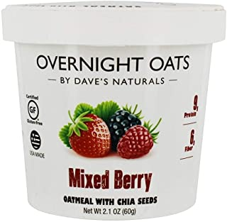 DAVES GOURMET Chia Mixed Berry Oats, 2.1 Ounce