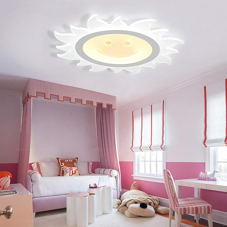 LED Deckenleuchte-Panel, LED-Lampe, Wohnzimmer-Lampe, Modern Deckenlampe, Deckenstrahler, 12W, 30W,40W Lchelnde Sonnenform Flur Wohnzimmer Lampe Wandleuchte Energie Sparen Licht,InnerwarmWeiß,20CM