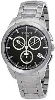 Tissot T Sport Men's Anthracite Dial Titanium Band Chronograph Watch - T069.417.44.061.00, Silver Band, Analog Display