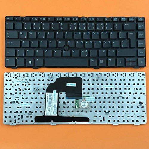 kompatibel für HP ProBook 6470b, 6475b Tastatur - Farbe: schwarz - Deutsches Tastaturlayout - mit TrackPoint, ohne Rahmen