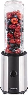 Cloer 6969 smoothie Maker rostfritt stål/300 watt/BPA-fri tritanflaska tål maskindisk/0,6 l innehåll/2. Blinkbehållare ell...