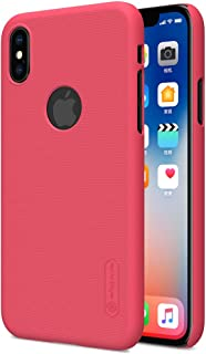Nillkin iPhone X/iPhone XS Mobile Cover Super Frosted Hard Shield Phone Case - Red