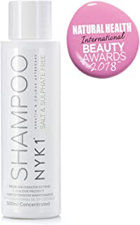 SALT AND SULFATE FREE SHAMPOO - (17 Fl Oz / 500ml) for use AFTER KERATIN TREATMENTS and for COLOR TREATED HAIR Aftercare for Men and Women (Unisex). No Salt, Sulfate or Sodium