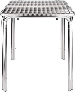 Bolero Table de bistro carrée empilable 600 mm