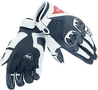 Dainese-MIG C2 Unisex Gloves, Black/White/Black, Size XL