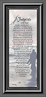 Frames of Mind Footprints in the Sand, Footprints In the Sand Wall Art, Footprints Poem, 6x12 7703B