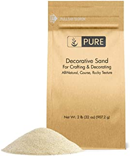Pure Organic Ingredients Natural Decorative Sand (2 lbs), Real Sand for Use in Crafts, Decor, Vase Filler, and More!