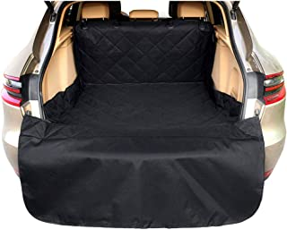 Arkmiido Pets Cargo Cover & Liner for Dogs, Waterproof Dog Seat Cover Mat for SUVs and Cars with Extra Bumper Flap Protector,Machine Washable 80 x 52 Black -Universal Fit