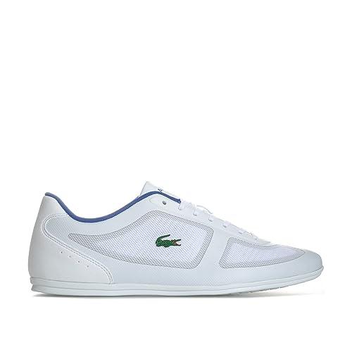 ad7008f164cce3 Lacoste Mens Misano Evo 117 1 Cam Trainers in White