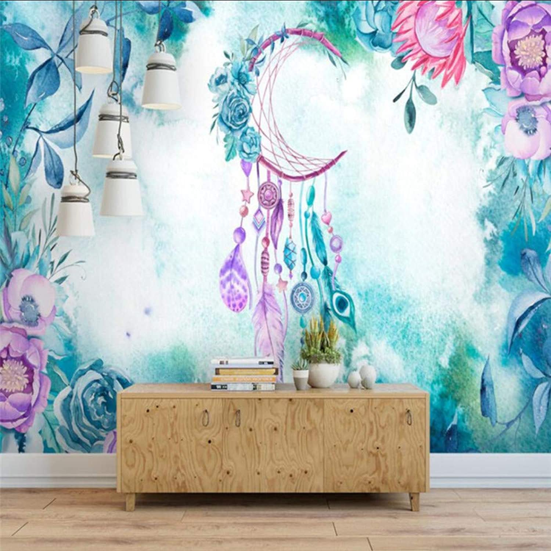 ofreciendo 100% Dalxsh Arte Moderno Moderno Moderno Nórdico Pintado A Mano Acuarela Flores Y Plantas Pluma Parojo Personalizado Gran Mural Papel Tapiz verde-200X140Cm  venta mundialmente famosa en línea