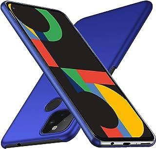 Google Pixel 5 ケース 【LASTE】Pixel 5 ケース 軽量 スリム 耐久性 薄型 PC 指紋防止 耐衝撃カ Pixel 5 レンズ保護 スマートフォンケース (ネイビーブルー)