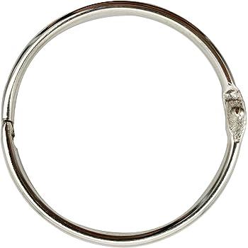 10 per Box Nickel Plated Steel BSN 01441 Book Rings 3 inch Diameter