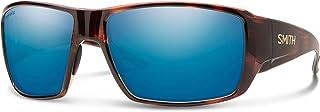 Smith Guides Choice Wrap Sunglasses, Tortoise/ChromaPop+ Polarized Blue Mirror, One Size