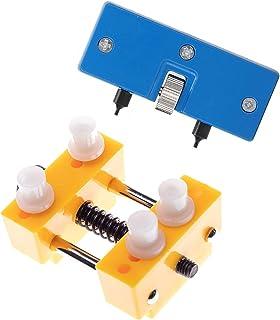 otutun Kit d'outils d'horlogerie Réglables,Outil Ouvre Ouvrir Boitier Montre, 2 pc Montre réglable Ouvre Coque arrière Pre...