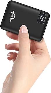 Liten bärbar telefonladdare 10 000 mAh snabbladdning 2,4 en powerbank externa batteripaket dubbla portar med LCD-skärm Pow...