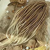 Synthetic Dreads Light Brown to Blond, Ombre Set, Ombre Dreads, Synthetic dreads, de dreads, se dreads, Dreadlocks Extensions