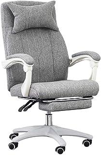 DFBGL Silla para Juegos en casa con reposapiés, Silla de Oficina ergonómica, sillas de Escritorio para computadora con Ruedas y cómodas sillas de 360 °Silla giratoria con Altura ajust