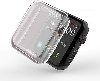 Smilelane Apple Watch Series 5 / Series 4 44mm ケース, 柔らかい TPU ウオッチ保護ケース超薄型カバー 2019 新しいアップルウォッチシリーズ 5/4 ケース 44mm (2枚)