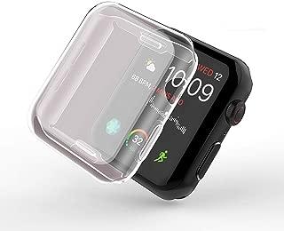 Smilelane Apple Watch Series 3 38mm ケース, 柔らかい TPU ウオッチ保護ケース超薄型カバー新しいアップルウォッチシリーズ 3 ケース 38mm (2枚)