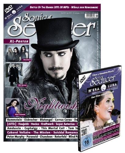 Sonic Seducer 12-11/01-12 mit M'Era Luna DVD + XL-Poster: Nightwish und VNV Nation, Bands: Nightwish (Titel), Rammstein, Blutengel, Korn, Amduscia, Corvus Corax u.v.m.