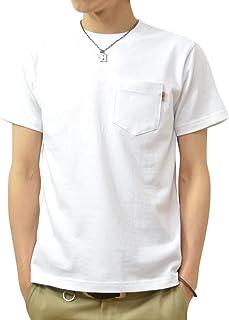 (ジーンズバグ)JEANSBUG 革タブ付 ポケT オリジナル 本革 タブ アクセント 半袖 無地 ポケット Tシャツ メンズ レディース 大きいサイズ PKST-L1