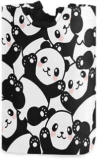 Mignon Panda Bear grand panier à linge panier de rangement de jouets en tissu avec poignées pour enfants panier-cadeau imp...