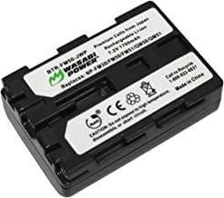 Wasabi Power Battery for Sony NP-FM50 (1700mAh) and Sony CCD-TR108, TR208, TR408, TR748, TRV106, TRV107, TRV108, TRV116, TRV118, TRV126, TRV128, TRV138, TRV208, TRV218, TRV228, TRV238, TRV308, TRV318, TRV328, TRV338, TRV408, TRV418, TRV428, TRV438, TRV608, TRV730, TRV740, TRV96K, DCR-DVD100, DVD101, DVD200, DVD201, DVD300, DVD301, DVD91, HC1, HC14, HC15, HC88, PC6, PC8, PC9, PC100, PC101, PC103, PC104, PC105, PC110, PC115, PC120, PC300, PC330, TRV10, TRV11, TRV12, TRV14, TRV15, TRV16, TRV17, TRV18, TRV19, TRV20, TRV22, TRV24, TRV25, TRV27, TRV30, TRV33, TRV38, TRV39, TRV40, TRV116, TRV118, TRV140, TRV145, TRV150, TRV230, TRV235, TRV238, TRV239, TRV240, TRV245, TRV250, TRV255, TRV260, TRV265, TRV270, TRV280, TRV285, TRV300, TRV325, TRV330, TRV340, TRV345, TRV345, TRV350, TRV351, TRV355, TRV360, TRV361, TRV430, TRV460, TRV480, TRV50, TRV530, TRV6, TRV8, TRV60, TRV70, TRV75, TRV80, TRV725, TRV730, TRV738, TRV740, TRV828, TRV830, TRV840, TRV940, TRV950, DSR-PDX10, HDR-HC1, SR1, UX1, HVR-A1U
