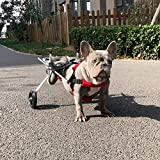 Cochecito De Perro para Cuerpo/Pata Trasera, Carro para Patas Traseras, Reparación Postoperatoria para Gatos Discapacitados, Conejos Paralíticos, Mascotas Discapacitadas, Silla De Ruedas, 5-15 Kg