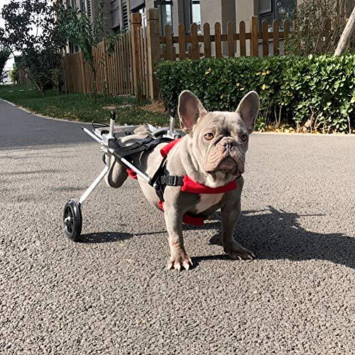 Rimorchio Passeggini per la Riabilitazione delle Zampe Posteriori di Cane, Sedia a Rotelle per Cani Anziani Feriti Disabili, Carrello Carrellino per Cani Gatto Taglia 5-15 kg