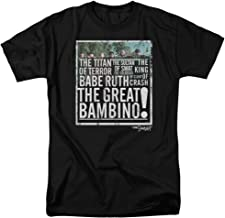 Sandlot Popular Comedy Baseball Movie The Great Bambino Adult T-Shirt Tee