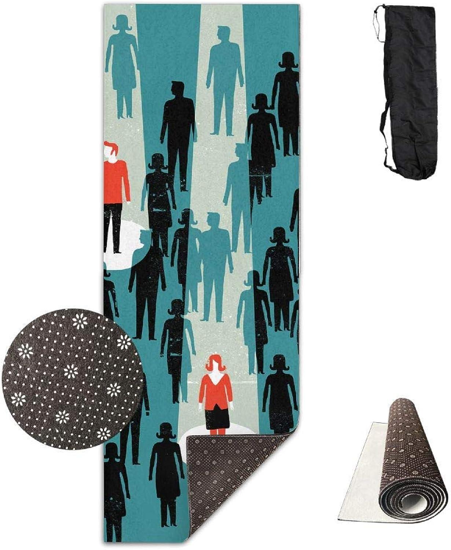 70Inch Long 28Inch Wide Comfort Velvet Yoga Mat, Adult Advantages Mat Carrying Strap & Bag