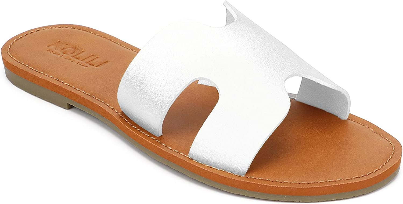 KOLILI Womens Flat Slide Comfy Fashion Summer 2021new Fort Worth Mall shipping free Sandals