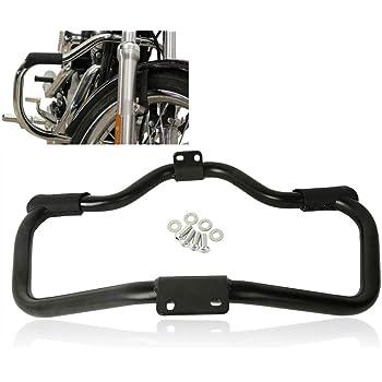 TCT-MT Engine Guard Crash Bar Support For Harley Sportster 1200 Custom XL1200C 2004-2019; Iron 883 XL883N 2009-2020; Roadster XL1200CX '16-20; 883R XL883R Roadster XL1200R '04-08 Black