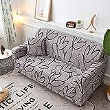 Universal 3 plazas: fundas de sofá extensibles estampadas de...