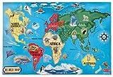 Melissa & Doug- Mappa del Mondo Puzzle da Pavimento, Multicolore, 10446